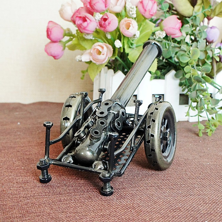 quite delicate classic collectible metal handicraft ancient weapon cannon model building toys for children home decor