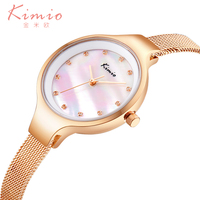 Kimio New Arrival Fashion Women S Watches With Gold Stainless Steel Straps Vogue Casual Ladies Watch