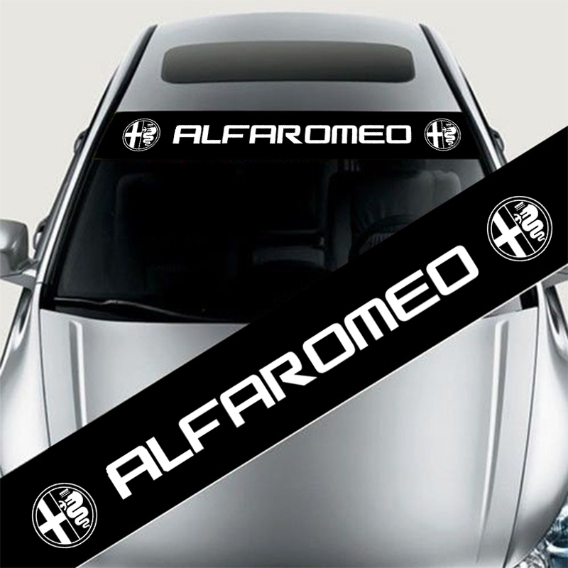 yongxun reflective front windshield banner decal car sticker for alfa romeo mito 147 156 159 166. Black Bedroom Furniture Sets. Home Design Ideas
