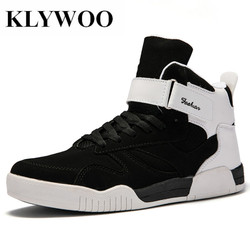KLYWOO Big Size 39-46 Shoes Men Sneakers Justin Bieber Men Boots SuperStar Hip Hop Shoes Men High Top Shoes Men Casual Shoes