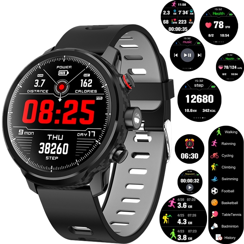 2019 Smart Watch IP68 Waterproof Fitness Tracker Bracelet Heart Rate Monitor LED Lighting Watch Men Smartwatch
