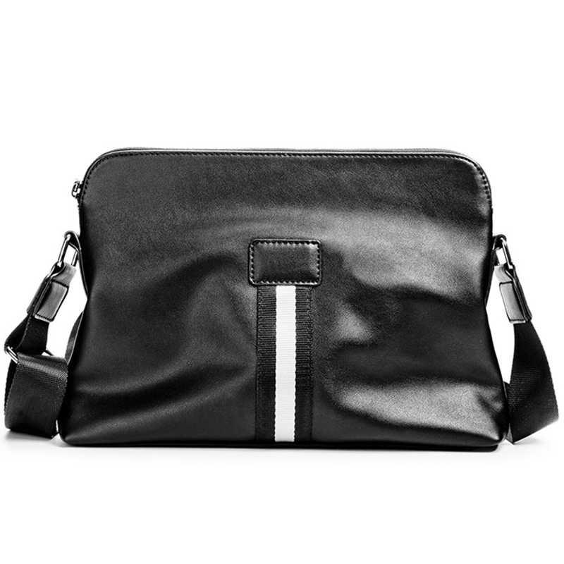ae77d4a4c9c8 Новое поступление, модная Роскошная брендовая мужская сумка, деловая  кожаная сумка, дизайнерская Повседневная сумка