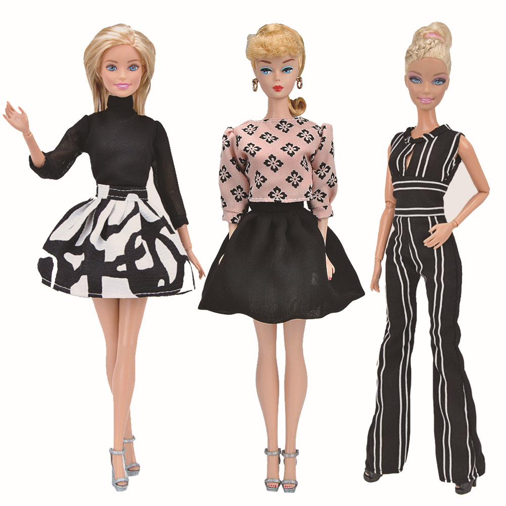 TOP BARBIE DOLL VALENTINE MULTI HEART PRINT COCKTAIL DRESS ACCESSORY CLOTHING