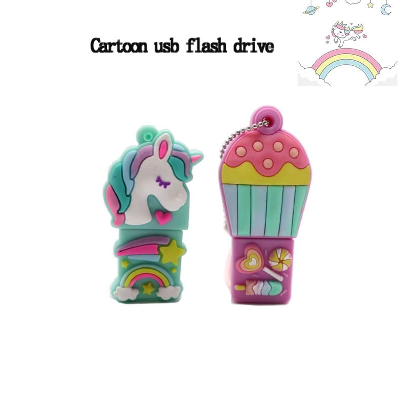 Pendrive Cartoon Hydrogen Balloon Usb Flash Drive 4GB 8GB 16GB 32GB Cute Unicorn Memory Stick Creative Gift Pen Drive Usb2.0 Cle