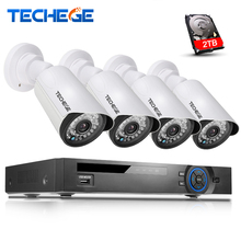 Techege 4CH PoE 1080P NVR CCTV System 2.0MP Outdoor IP Camera HD 1080P NVR Recorder Video Security Camera Surveillance System