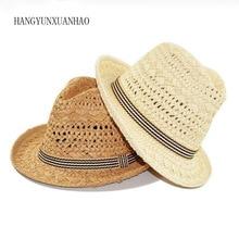 2019 Summer Lafite Jazz Straw Hat For Men Beach Adults And Children Parent-Child Sun Panama Women Visor Caps