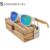 Voga Óculos de Lentes Coloridas Óculos de Sol Branco do Quadro De Madeira De Bambu De Plástico Super Star Colorido de óculos de Lentes de Óculos De Sol De Madeira