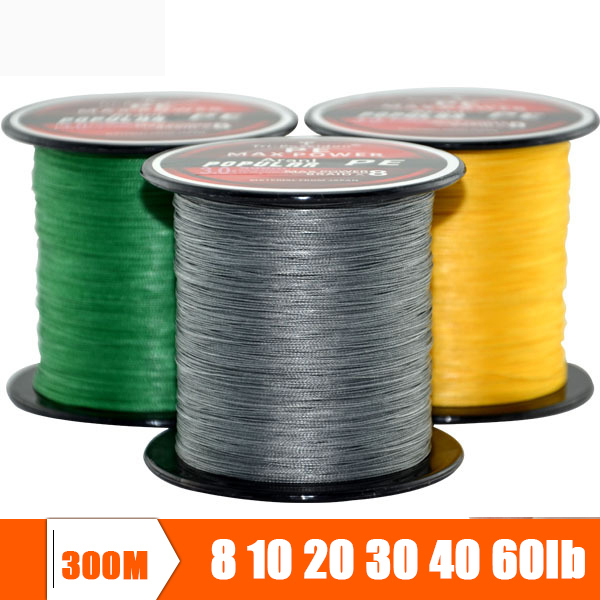 Seaknight Brand Super Strong Japanese 300m Multifilament PE Material Braided Fishing Line 6 8 10 20 30 40 50 60 70 80 100LB