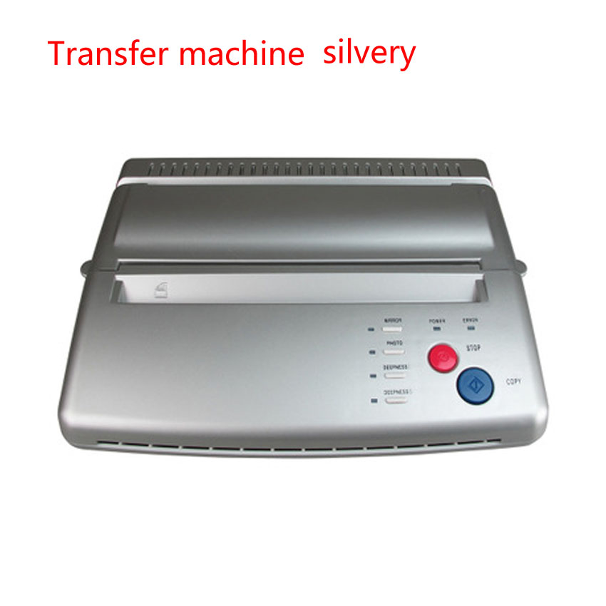 Thermal Tattoo Transfer Machine Copy Stencil Copier Printer Drawing LED Digital 5Pcs A4 Transfer Papers Body Art Tattoo Supply
