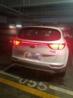 eOsuns led rear bumper light, driving lamp, brake light for kia KX5 sportage, wireless switch control, carbon fiber
