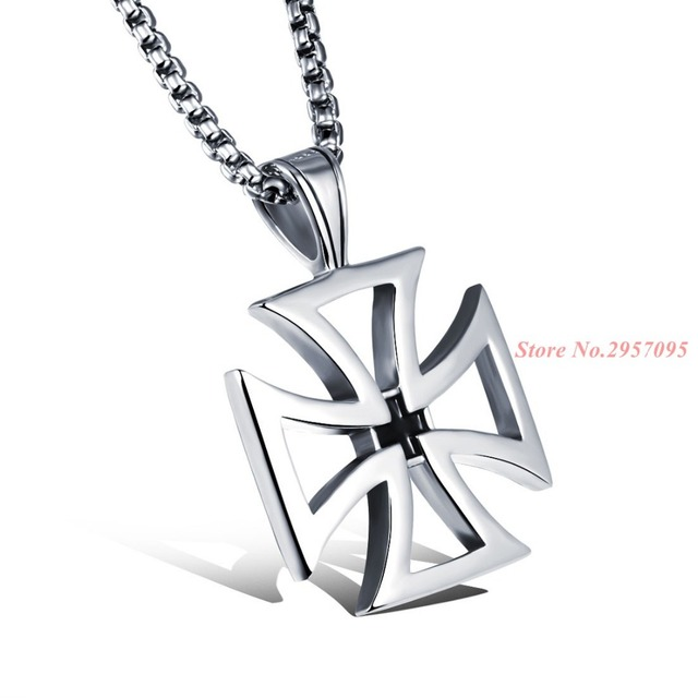 Mens necklace stainless steel vintage hollow maltese iron cross mens necklace stainless steel vintage hollow maltese iron cross pendant necklace knights templar cross fashion jewelry aloadofball Images