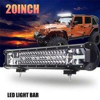 12V 24V LED Car Lights 3 Row 12 20 LED Work Light Bar Combo Spot Flood