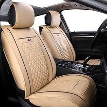 Funda de cuero para asiento de coche para TOYOTA Corolla RAV4 Highlander PRADO, Yaris Prius Camry juego completo delantero y trasero funda de cojín de coche