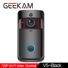 WiFi Video Doorbell V5 Black Smart IP Video Intercom WI-FI Video Door Phone For