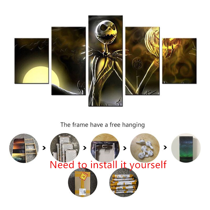 Wall Art Painting Canvas Picture For Living Room Prints 5 Panel ...