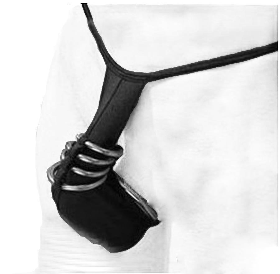 Lingerie masculina sexy 5 anéis de metal galo bainha biquíni g-string virilha bolsa t-back microkini roupa interior macho mostrar roupa