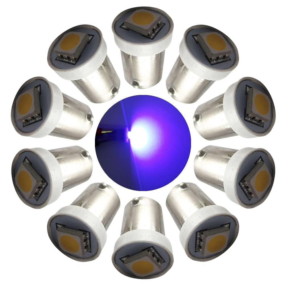 100PCS 6.3V 1SMD 5050 LED Pinball Machine Light Bulb Ba9s #44 #47 Bayonet Base #1893 #756 #1847 Non ghosting/anti flickering