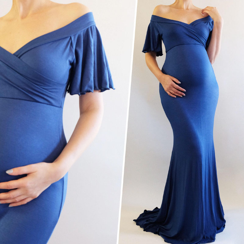 Ruffles Pregnancy Dress Photography Maternity Dresses For Photo Shoot Clothing For Pregnant Women Robe Grossesse Shooting PhotoRuffles Pregnancy Dress Photography Maternity Dresses For Photo Shoot Clothing For Pregnant Women Robe Grossesse Shooting Photo