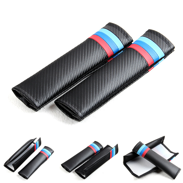 Car Styling 2PCS Comfortable Car Safety Seat Belt Shoulder Pads Cover Cushion Harness Pad For BMW 1 3 5 series x1 x3 x5 x6 M GT
