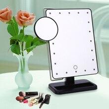 Fashion Portable Rotatable Folding Table 20 LED Lamp Luminous Cosmetic Mirror