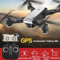 Складной Aerial беспилотный Профессиональный gps Wi Fi FPV Follow Me удаленного Управление Радиоуправляемый Дрон 720 P 1080 P регулируемая камера VS x8 PRO B5W B2W