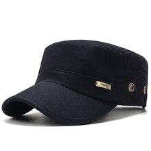 Мужские летние армейские кепки, регулируемая Весенняя бейсбольная модная Классическая хлопковая кепка с плоским верхом в стиле милитари, уличная Солнцезащитная Повседневная Кепка