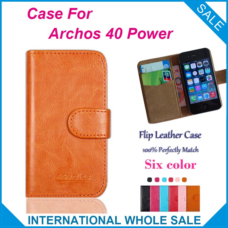Hot! 2016 Archos 40 Power Case,6 Colors High Quality Leather Exclusive Case For Archos 40 Power Cover Phone Tracking