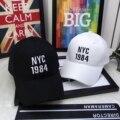 HOT! NYC Bonés de Beisebol Chapéu de Sol Cap Snapbacks Bonés De Beisebol Marca Branco Preto Streetwear Polo Cap Chapéu Snapback preto e branco