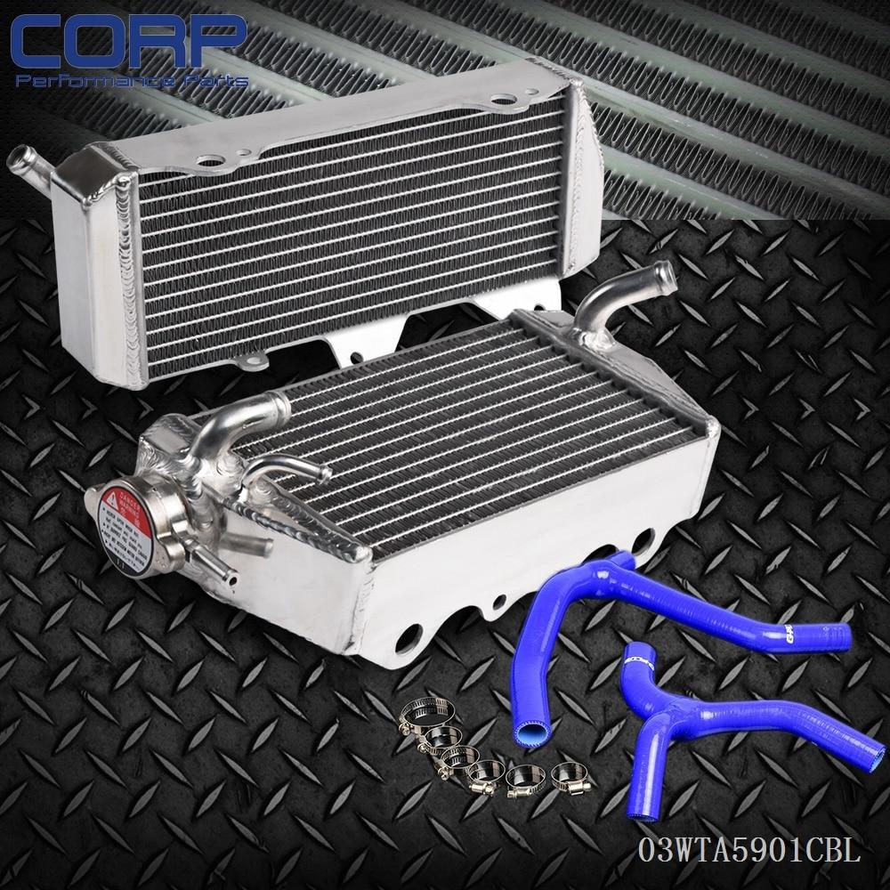 L&R Aluminum Radiator and Y Hose For KAWASAKI KX450 KX450F KX 450 F 2006 - 2007 brand new motorcycle accessories radiator cooler aluminum motorbike radiator for kawasaki kx450f kx 450 f 2006 2007