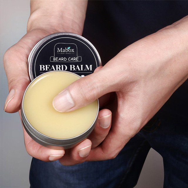 Red Box Moisturizing Nursing Beard Cream 1pc Natural Beard Balm for Gentlemen Beard Used Professional Tool Oil Care Wax Effect