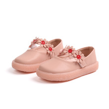 Fashion spring Autumn Childrens leather shoes baby Girls Kids soft-soled flowers princess free shipping