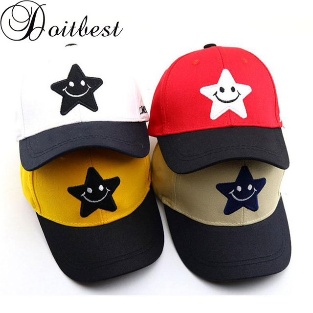 6794f0aa6 US $3.96 19% OFF|Aliexpress.com : Buy Doitbest 2 to 8 Years 2019 Child  Baseball Cap Hip Hop Spring S Letters kids Sun Hat solid Boys Girls Caps ...