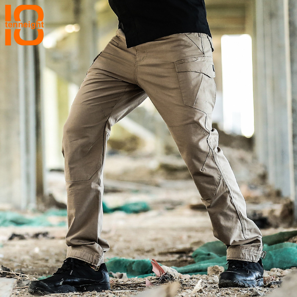 TENNEIGHT Military Tactical Pants Men Multi Pocket Waterproof SWAT tactical trousers Combat Cargo Pants hiking training pants rocotactical male military cargo pants city urban tactical pants multi pockets breathable camping hiking pants bdu swat