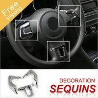 For Car Chromium Styling Steering Wheel Trim Cover ABS for Volkswagen VW Jetta MK6 Golf 6 Polo Bora 2011 2012 2013