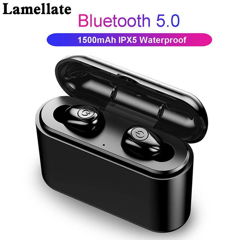 <font><b>X8</b></font> <font><b>tws</b></font> <font><b>Bluetooth</b></font> <font><b>Earphones</b></font> 5.0 Waterproof Wireless headphones 5D Stereo Earbud Headsets With Charging Box 3000mAh Power Bank image