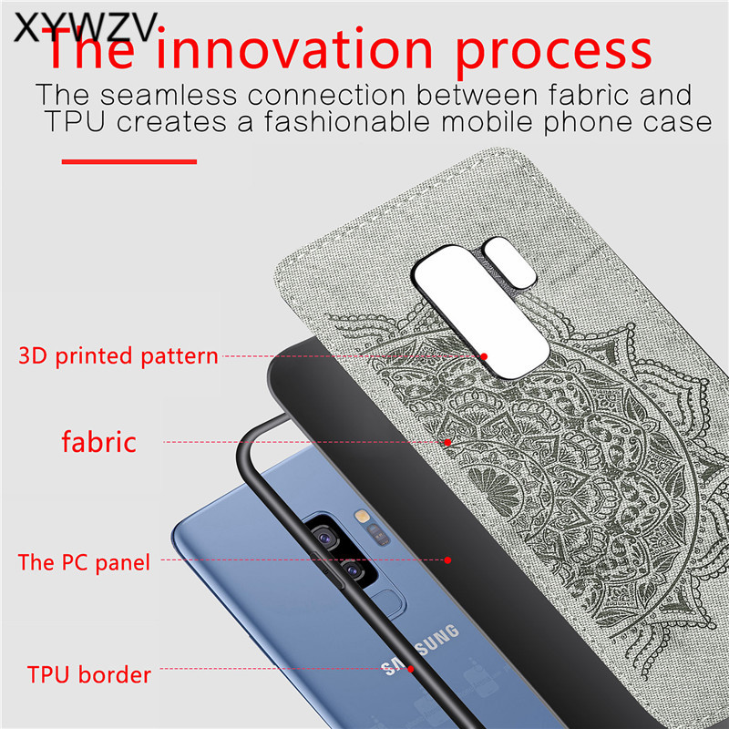 Image 3 - For Samsung Galaxy S9 Plus Case Soft TPU Silicone Cloth Texture Hard PC Phone Case For Samsung S9 Plus Cover For Galaxy S9 Plus-in Fitted Cases from Cellphones & Telecommunications