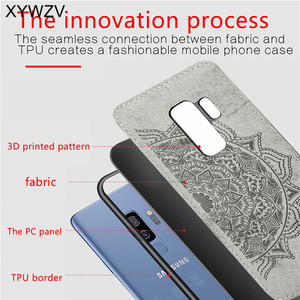 Image 3 - For Samsung Galaxy S9 Plus Case Soft TPU Silicone Cloth Texture Hard PC Phone Case For Samsung S9 Plus Cover For Galaxy S9 Plus