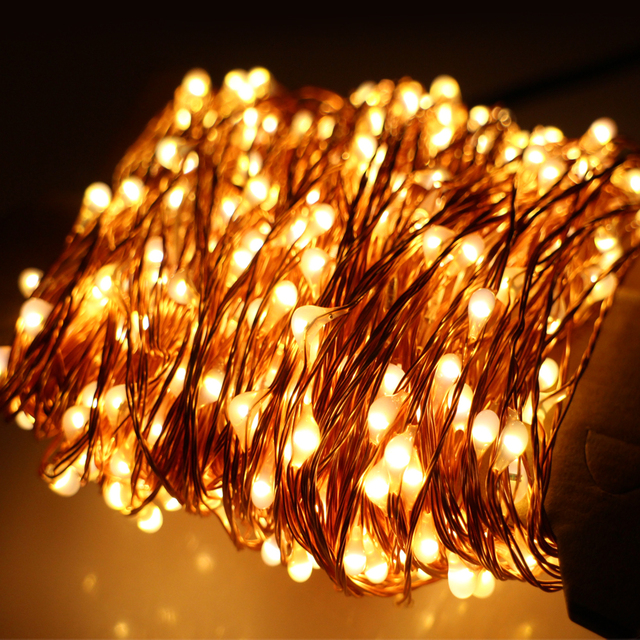 Aliexpress.com : Buy 6 Colors 50M 165Ft 500 LEDs Copper Wire Warm White LED String Light Starry ...