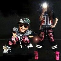 Хип-хоп взрослых джазового танца костюмы для взрослых танцы одежда мужской с коротким рукавом школьная форма женская группа танцор износ 18