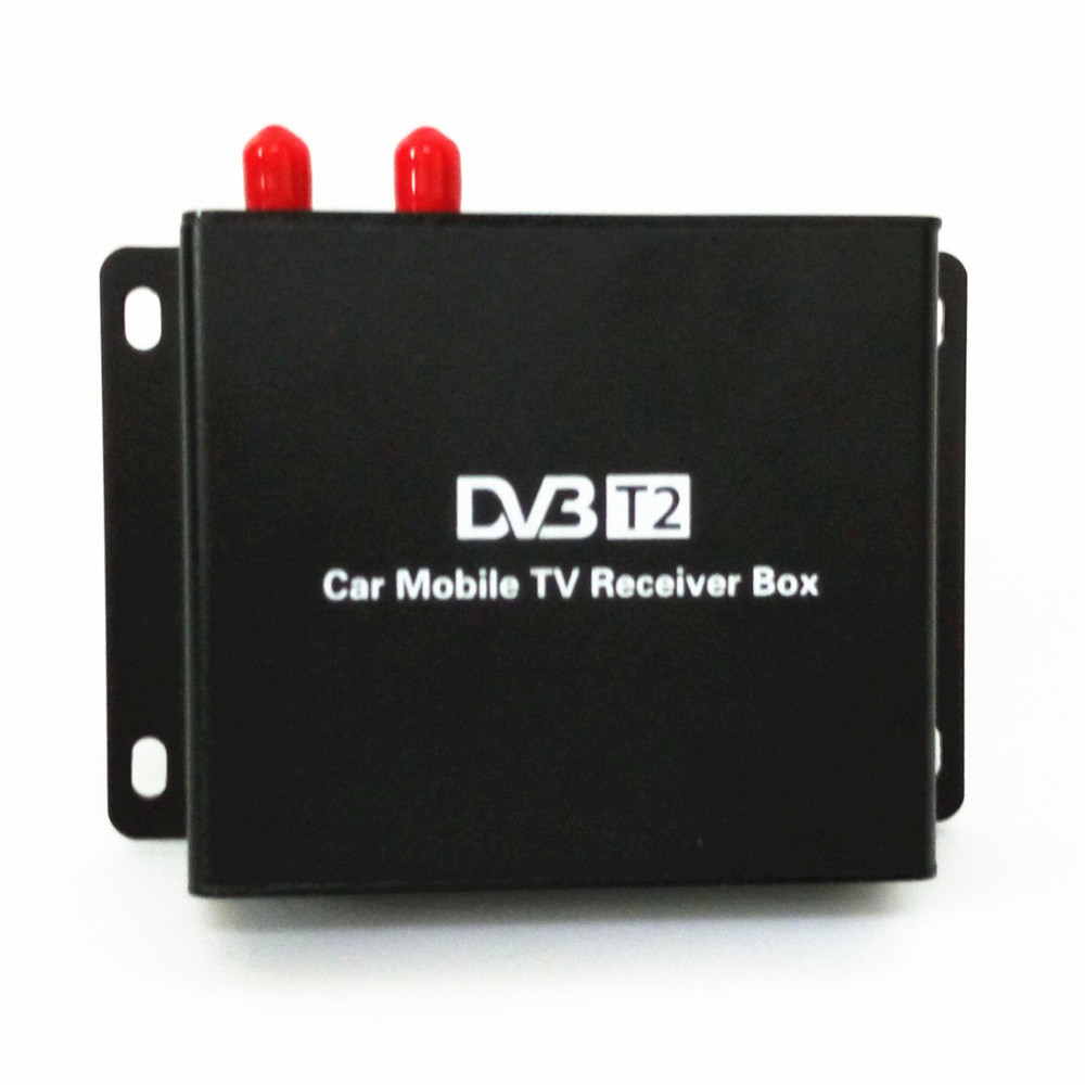 Support 120-140km/h DVB-T2 two tuner+active antenna Digital TV receiver Compatible with MPEG2 and MPEG4 For car dvd player radio