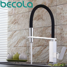 becola new design brass kitchen faucet Pull Out Down Sink Faucet 360 Swivel Kitchen Mixer Tap B-9204 цена и фото