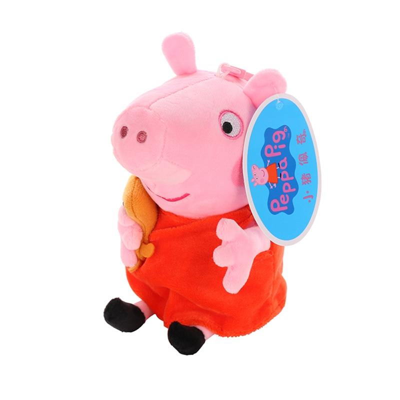 Original 19cm Peppa Pig George Animal Stuffed Plush Toys Cartoon Family Friend Pig Party Dolls For Girl Children Christmas Gift 1