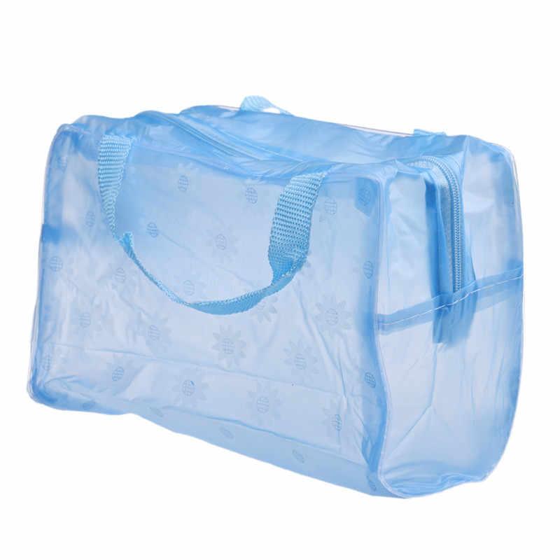 Bloemenprint Transparante Waterdichte Make Make up Cosmetische Tas Reizen Wassen Tandenborstel Pouch Toilettas Organisator Tas Gereedschap Sac