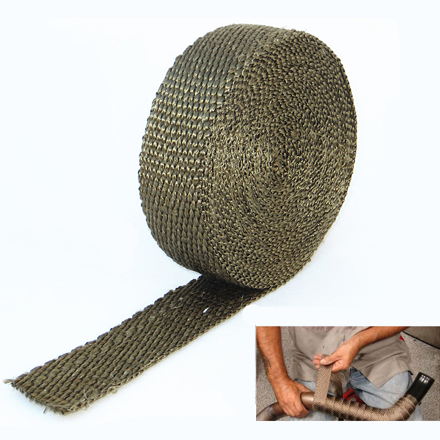 5cmX5M titanium heat pack temperature Dark gold heat tie replacement car downpipe
