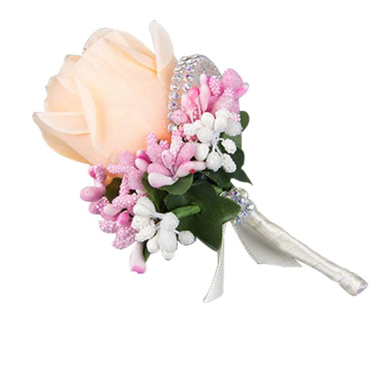 Spiaggia tema di nozze 30 pz bianco della Sedia del Organza Fiocchi e Fasce con il bianco Champagne fiore di rosa per la Cerimonia Nuziale Del Partito Banchetto della Sedia Decorazione - 6