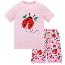Baby girls pyjamas New summer cotton kids clothes set short sleeve sets Short