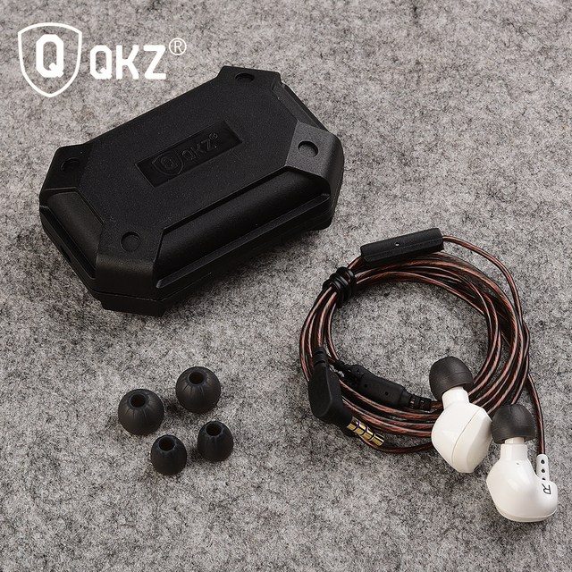 with Mic 3.5mm Hifi Gold Plated Go Pro Music Earphone Original Brand QKZ DM200 Super Bass In-Ear auriculares