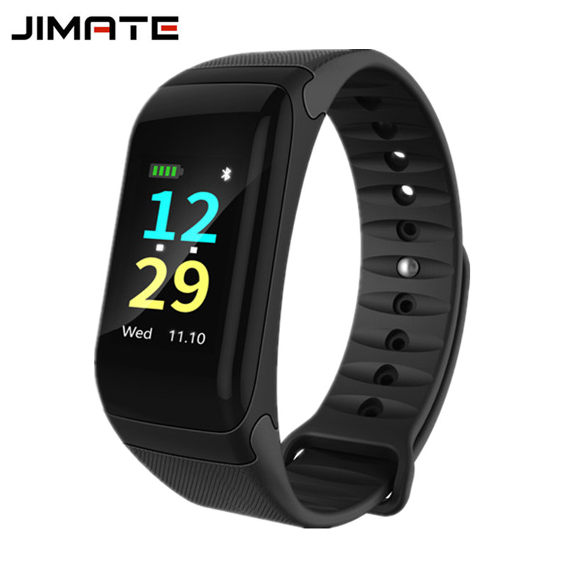 Jimate F1 Plus Waterproof Sports Smart Bracelet Blood Pressure Heart Rate Monitor Weather Smartband Fitness Tracker Wristband