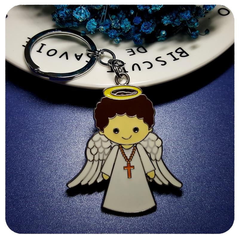 GRANDBLING Christian Souvenir Gift Angel Style Key Chain Pendant