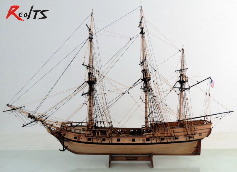 RealTS 1/50 classic wooden sailing boat Rattlesnake 1782model kit